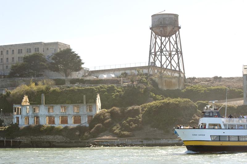 Alcatraz Island, sailing trip with catamaran Adventurecat 2
