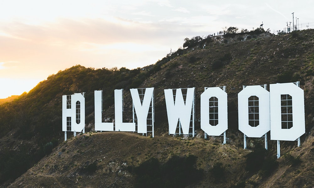 De letters van Hollywood
