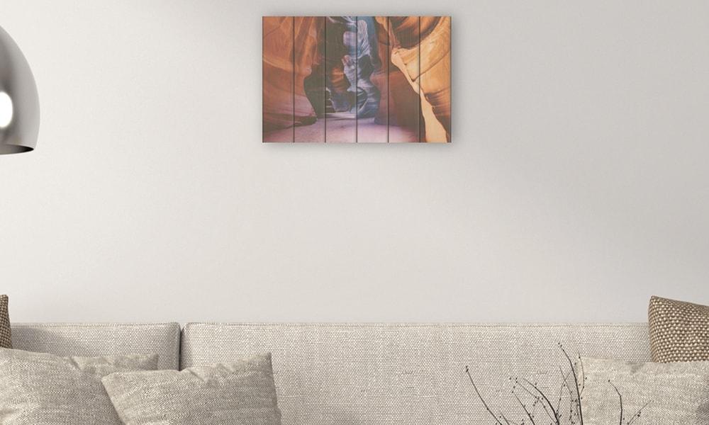 Antelope Canyon op hout (60 x 40 cm)