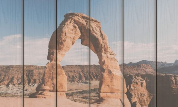 Arches National Park I op hout (60 x 40 cm)