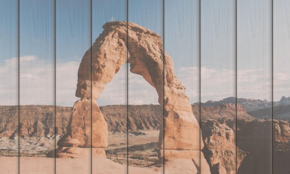 Arches National Park op hout (90 x 60 cm)