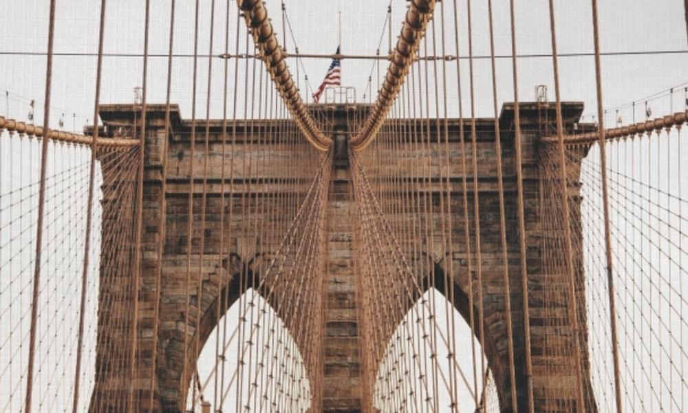 Brooklyn Bridge I op canvas