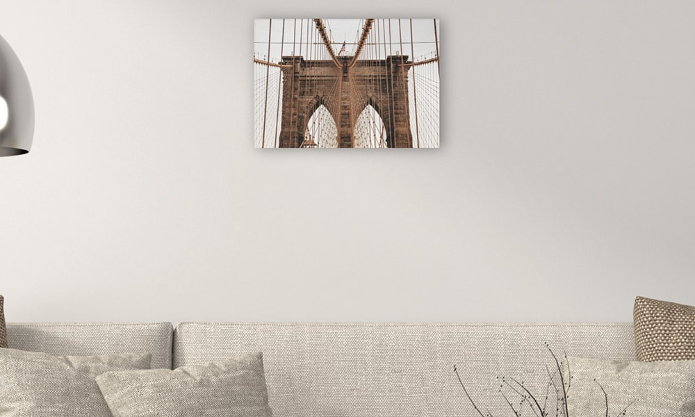 Brooklyn Bridge op canvas (60 x 40 cm)