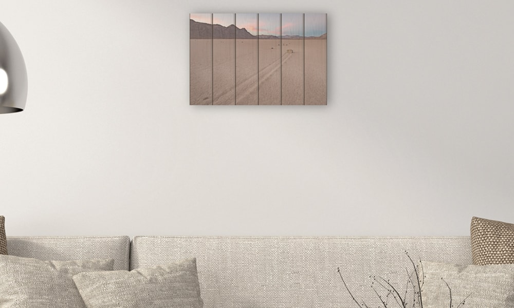 Death Valley National Park op hout (60 x 40 cm)
