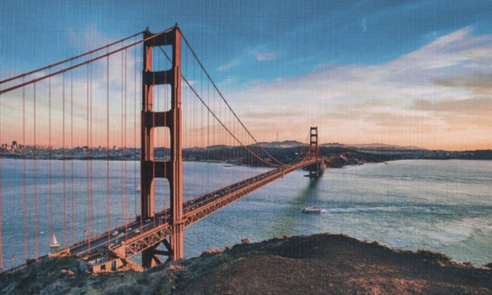 Golden Gate Bridge III op canvas