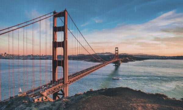 Golden Gate Bridge III op canvas