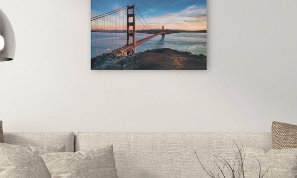 Golden Gate Bridge III op canvas (90 x 60 cm)