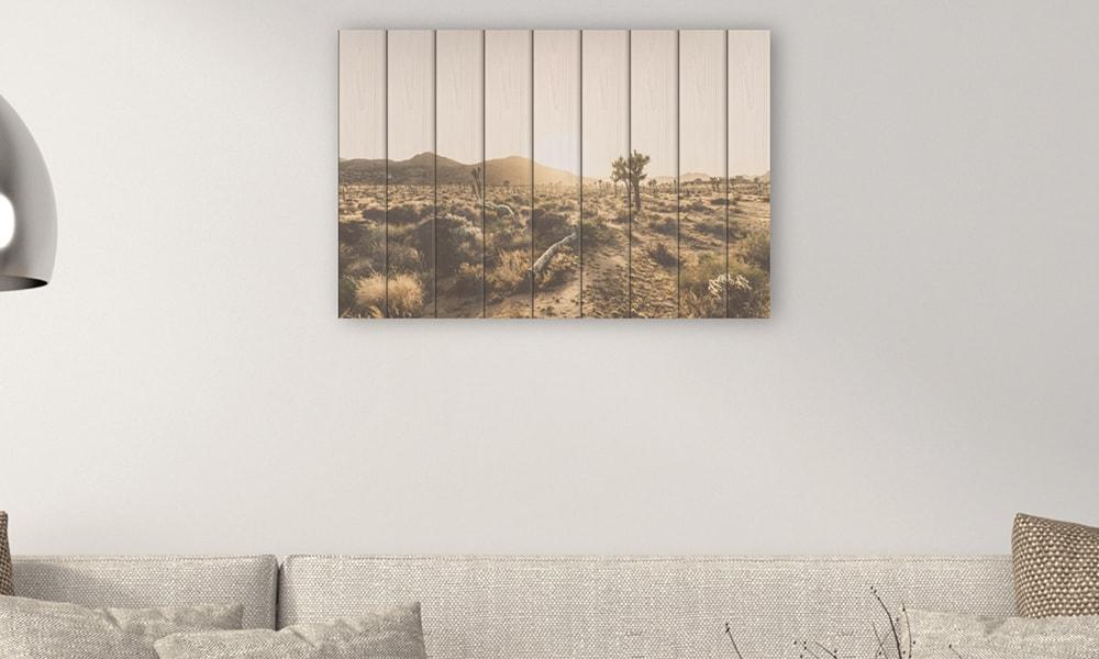 Joshua Tree National Park op hout (90 x 60 cm)