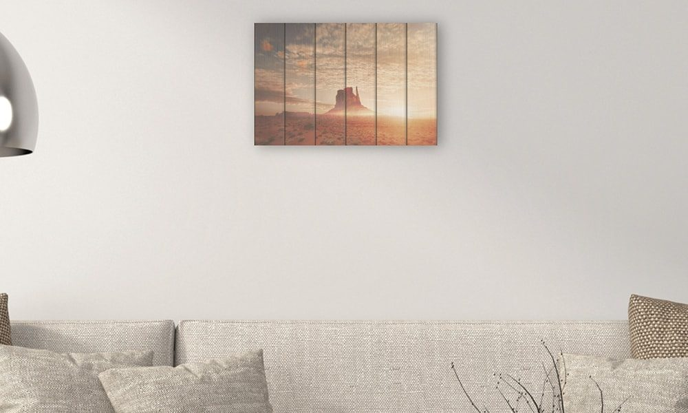 Monument Valley op hout (60 x 40 cm)
