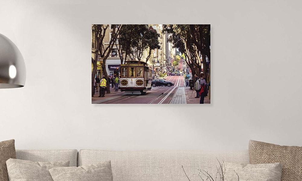 San Francisco I op dibond en forex (90 x 60 cm)