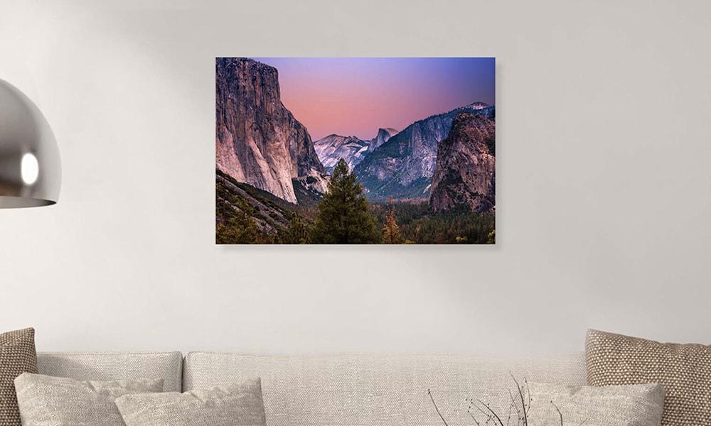 Yosemite National Park II op dibond en forex (90 x 60 cm)