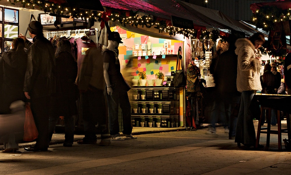 Holiday Market, Columbus Circle - Malcolm Brown via NYC & Company
