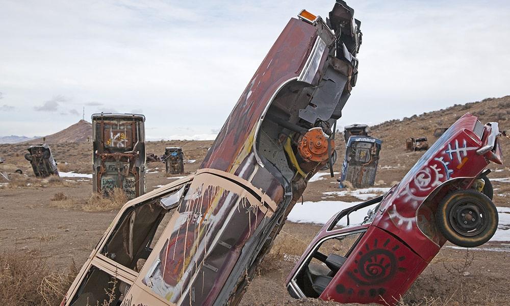 International Car Forest Of The Last Church - Sydney Martinez via Travel Nevada
