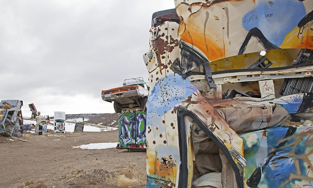 International Car Forest Of The Last Church - Sydney Martinez via Travel Nevada