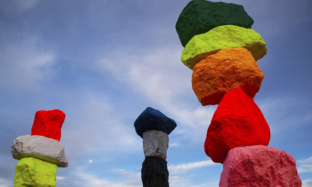 Seven Magic Mountains - Sydney Martinez via TravelNevada