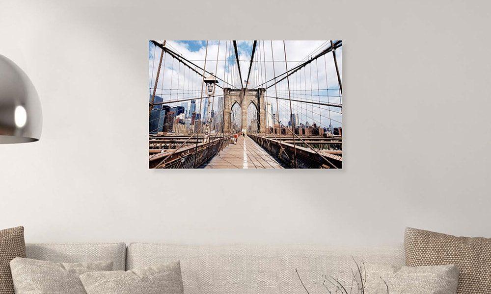 Brooklyn Bridge II op dibond en forex (90 x 60 cm)