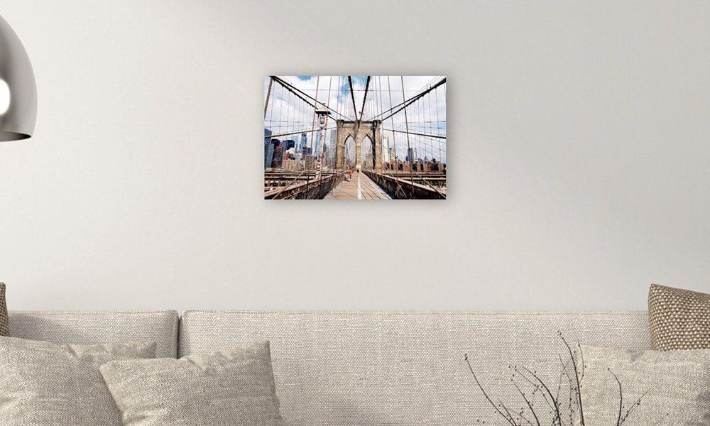 Brooklyn Bridge II op forex (60 x 40 cm)