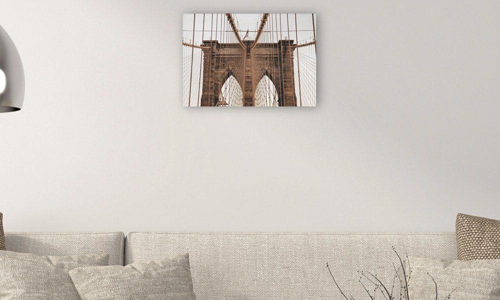 Brooklyn Bridge op canvas (60 x 40 cm)
