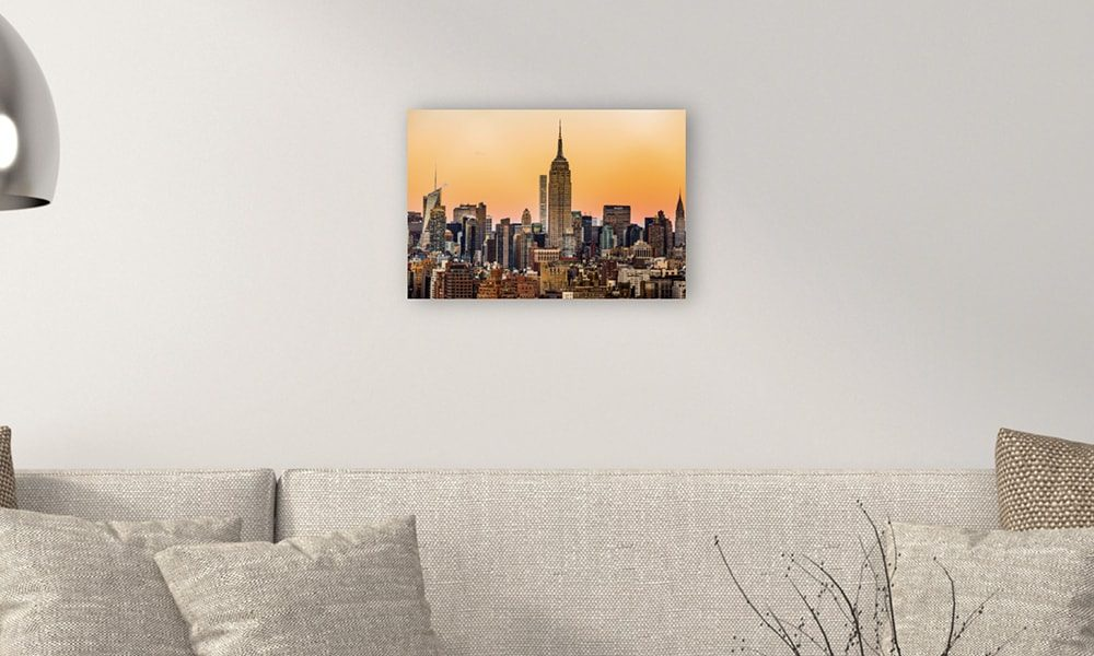 Empire State Building op forex (60 x 40 cm)