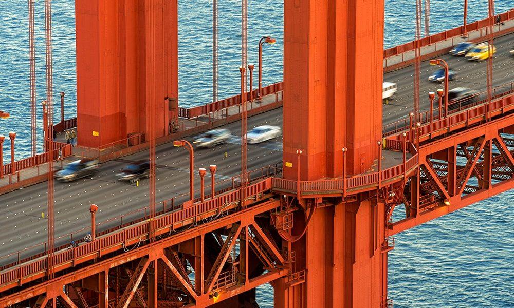 Golden Gate Bridge I op forex (30 x 20 cm)