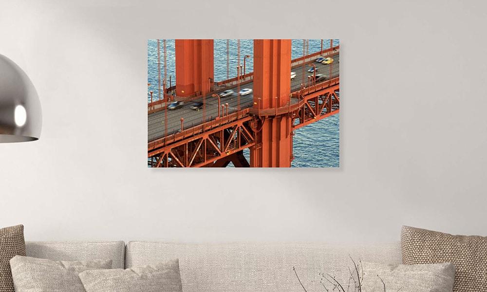 Golden Gate Bridge I op dibond en forex (90 x 60 cm)