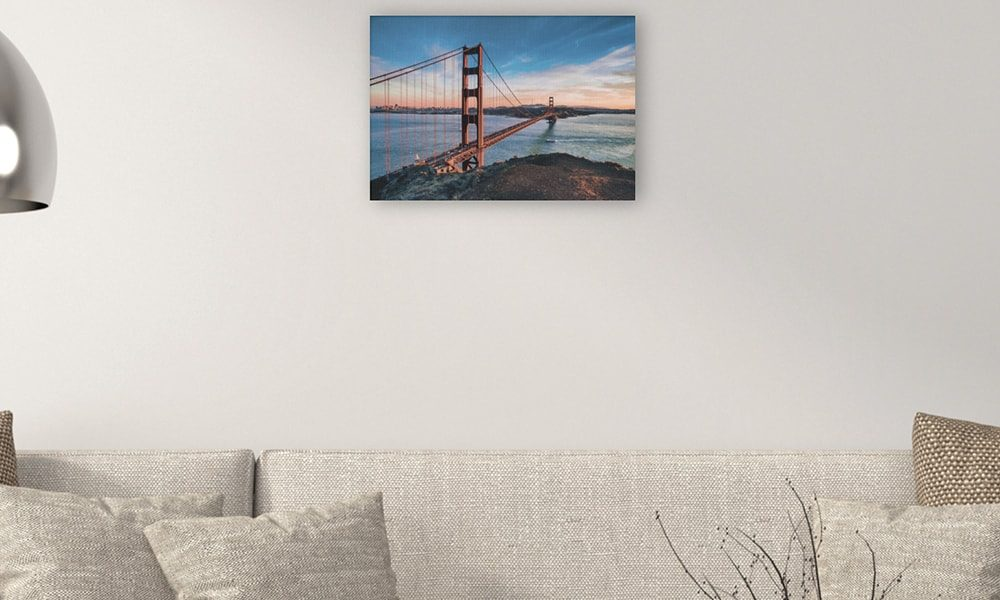 Golden Gate Bridge III op canvas (60 x 40 cm)