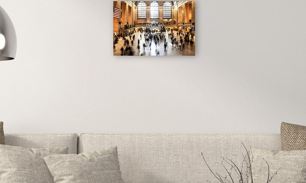 Grand Central Terminal op dibond (60 x 40 cm)Grand Central Terminal op dibond (60 x 40 cm)