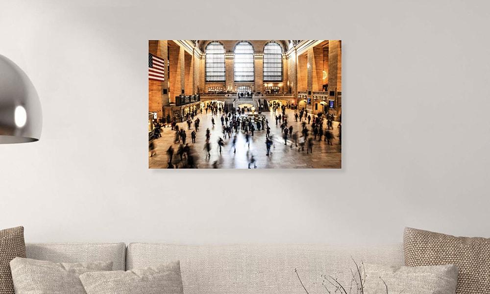 Grand Central Terminal op dibond en forex (90 x 60 cm)