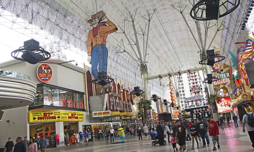 Fremont Street - Sydney Martinez via Travel Nevada