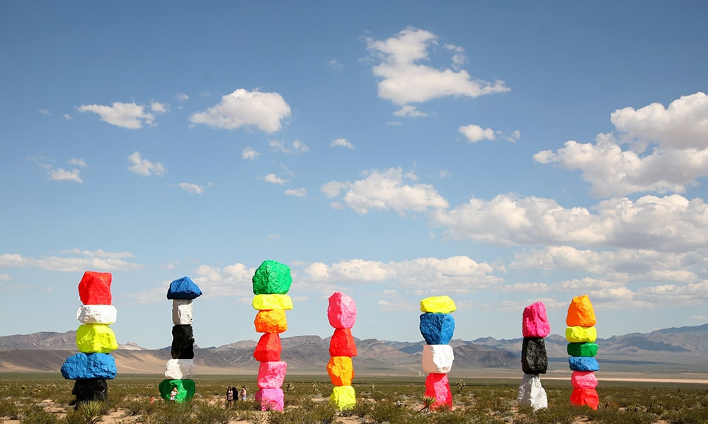 Seven Magic Mountains - Kaitlin Godbey via TravelNevada