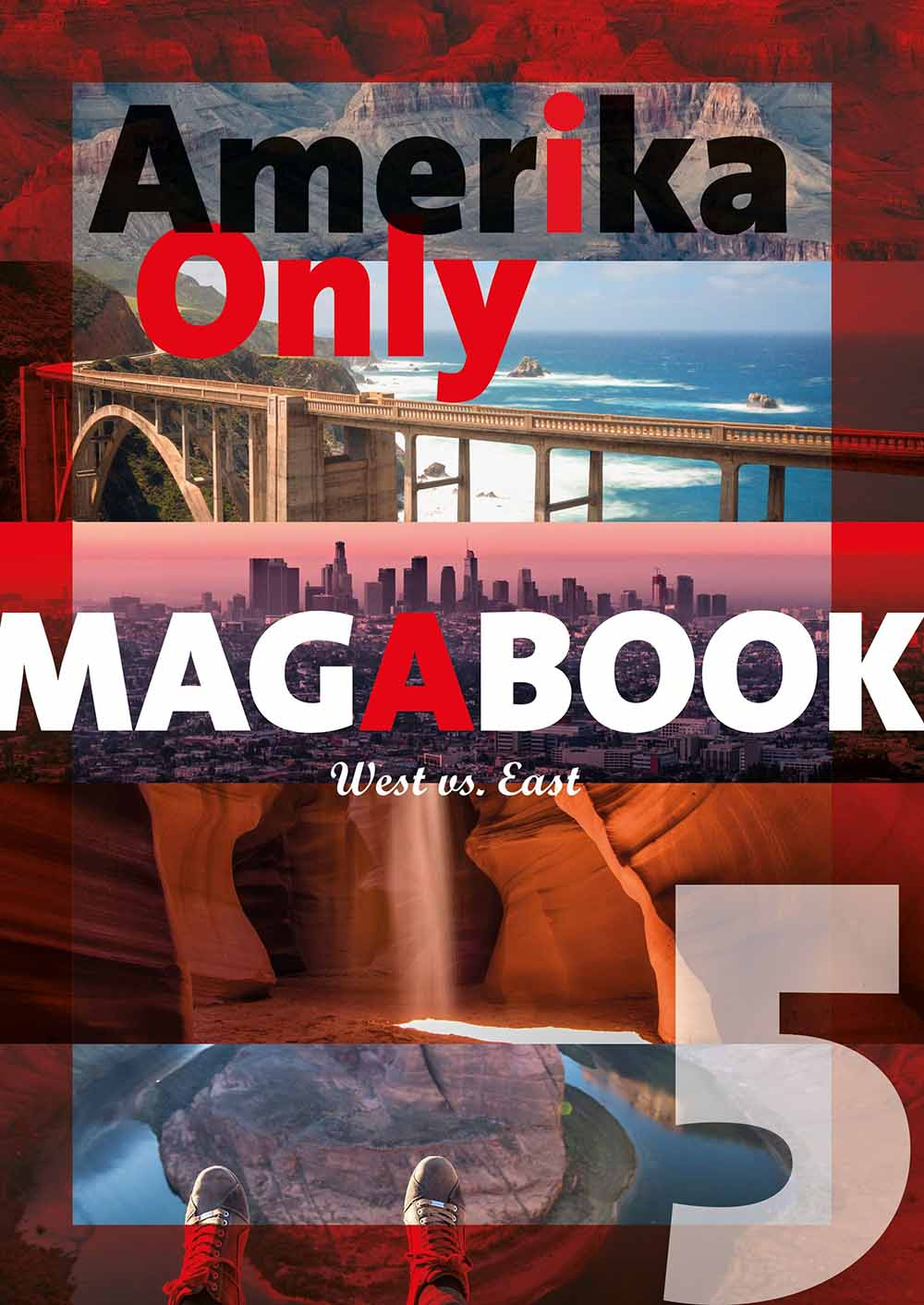 Amerika Only Magabook 5 West Vs. East - Cover